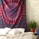 Purple Mandala Wall Tapestry, Indian Cotton Bedding Twin Bedspread