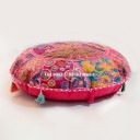 "32"" Bohemian Patchwork Yoga & Meditation Round Floor Pillow Cover"