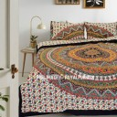 Multi Kerala Bohemian Hippie Bedding Duvet Covers Set with 2 Pillow Covers