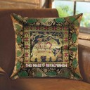 Decorative & Accent Asian Elephant Featuring Silk Brocade Toss Pillow Cover 16X16 Inch