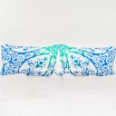 Blue Multi Anemone Medallion Mandala Pillow Covers Set of Two