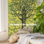 Twin Size Green Tree Of Life Tapestry Wall Hanging Decor Art