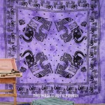Purple Elephant Tie Dye Hippie Tapestry Wall Hanging Bed Cover