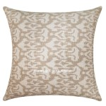 "24"" Big Gray Indian Decorative Ikat Kantha Throw Pillow Cover"