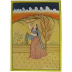 Rajasthan Radha Miniature Paper Painting