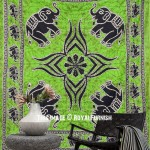 Indian Elephant Dorm Decor Hippie Tapestry Wall Hanging
