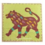 Big Size Tiger Kantha Patchwork Wall Hanging Tapestry Decor Art