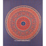 Blue Indian Mandala Tapestry Wall Hanging Bed Cover Home Wall Decorative Art