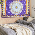 Purple Astrological Horoscope Cotton Wall Tapestry