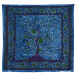 Large Queen Blue Young Tree Of Life Hippie Boho Tapestry Bedding