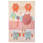 White Hand Owls Design Baby Girl & Boy Crib And Toddler Quilt