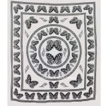 White and Black Butterfly Wall Tapestry, Bedroom Dorm Indian Bedding