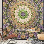 Psychedelic Multi Indian 3 D Style Star Wall Tapestry, Hippie Bedspread