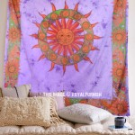 Purple Tie Dye Sun Tapestry Wall Hanging