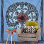 Queen Size Celtic Tie Dye Mandala Tapestry Wall Hanging