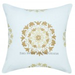 "16"" X 16"" Floral Embroidered Suzani Indoor/Outdoor Pillow Sham"