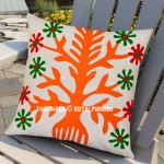 "16"" Inch Patchwork Accent Birch Tree Kids/Toddler Square Indian Pillow Cover"
