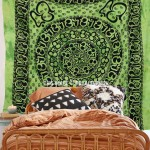 Large Green Om Chakra Tapestry Wall Hanging