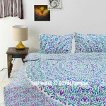 White Multi Shrubs and Hedge Plants Theme Duvet Cover Set with 2 Pillow Covers