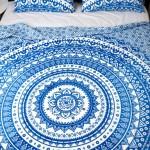 Blue Classic Medallion Ombre Mandala Duvet Cover