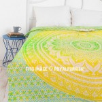 Green Ombre Medallion Circle Duvet Cover