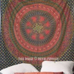 Multi Birds Bohemian Mandala Circle Tapestry, Hippie Bedding
