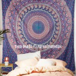 Blue Elephants & Peacocks Bohemian Mandala Wall Tapestry