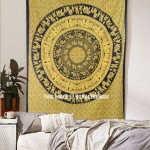 Green Twin Size King Procession Bohemian Mandala Tapestry