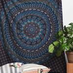 Blue Bohemian Indian Hippie Mandala Wall Tapestry