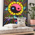 Colorful Chinese Yin Yang Hippie Tapestry