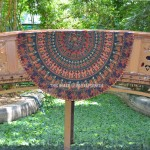 Green & Red Kingdom Medallion Mandala Beach Roundie Throw