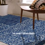 Indigo Blue Multi Design Outdoor Indoor Dhurrie Rug 3'X5'