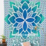 Sea Green Tropic Verde Mandala Bohemian Tapestry