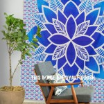 Blue Multi Tropic Paradise Mandala Boho Tapestry Bedspread