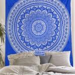 Royal Blue Bohemian Dreams Mandala Throw Bedspread Wall Tapestry