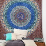 Plum and Bow Magical Medallion Bohochic Mandala Wall Tapestry