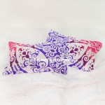 Purple & Pink Anemone Medallion Ombre Mandala Pillow Covers Set of Two