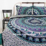 Multi Medallion Elephants Mandala Bedding Duvet Set with 2 Pillow Covers
