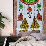 Multi Dream Catcher Tapestry Hand Brushed Wall Hanging