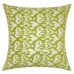 Green Accent Kantha Ikat Kantha Oversized Throw Pillow Cover