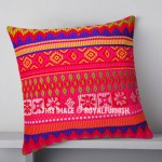 Multi Tribal Stripes Design Boho Throw Pillow Cover 16X16 Inch