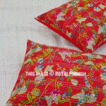 Red Bird Forest Cotton Standard Pillow Cover Set of 2
