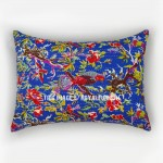 Blue Bird Paradise Handmade Standard Pillow Sham Set of 2