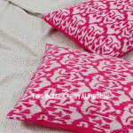 Pink Zigzag Print Kantha Standard Pillow Case Set of 2