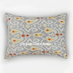 Grey Paisley Print Texture Boho Pillow Shams Set of 2