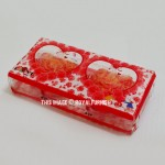 Valentine Gift Set of Red Heart Designed Candles Set of 2