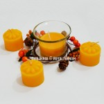 Gift Set of Yellow Votive Candles - Set of 4 Scented Candles with Candle Holder