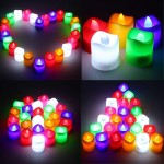 Battery-operated Flameless LED Votive Tea Light Candles Set of 6