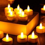 Battery-operated Flameless Green LED Tea Light Candles Set of 6