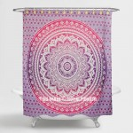 Pink & Purple Classic Ombre Mandala Boho Tapestry Shower Curtain